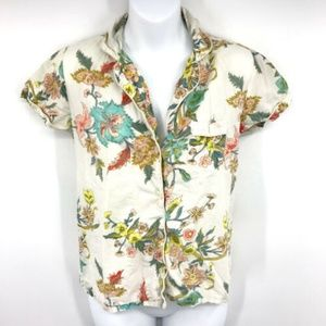 Plum Pretty Sugar Floral Pajama Shirt Top XS